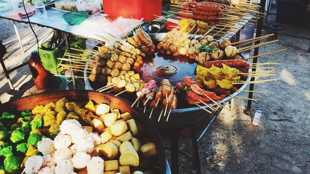 A Thai food market
