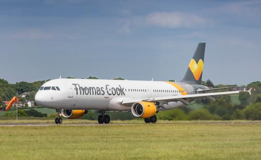 A Thomas Cook Airbus A320 in London