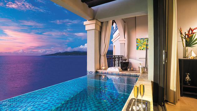 The view from your private sky pool at Sandals Resorts