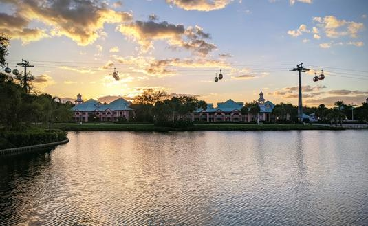Walt Disney World's Caribbean Beach Resort with Skyliner