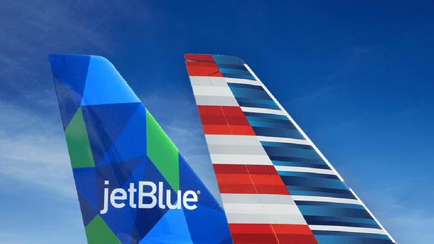 JetBlue and American Airlines partnership.