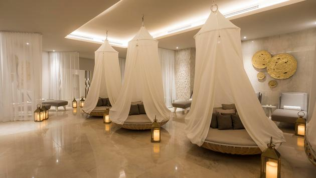 Relaxation area at Blanc Spa in Cancun