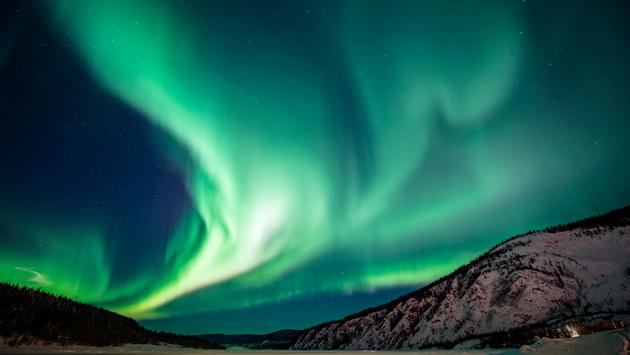 The Northern Lights over the Canadian Arctic