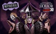 Beetlejuice at Universal Orlando's Halloween Horror Nights 2021.