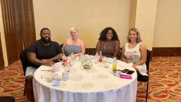 Travel advisors attending a Playa seminar