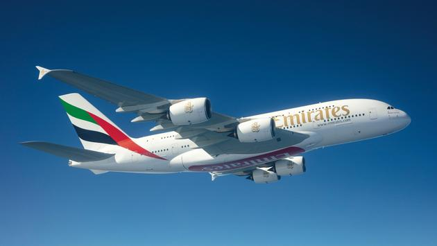Emirates plane.