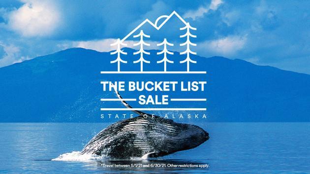 Alaska Airlines' Bucket List Sale.