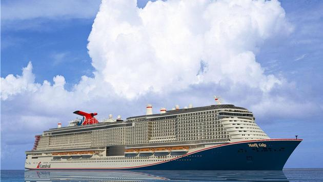 Rendering of Carnival Cruise Line's Mardi Gras