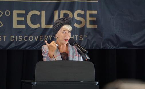 Scenic Eclipse a 'Modern Queen' Says Godmother Helen Mirren