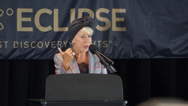 Scenic Eclipse a 'Modern Queen' Says Godmother Helen Mirren