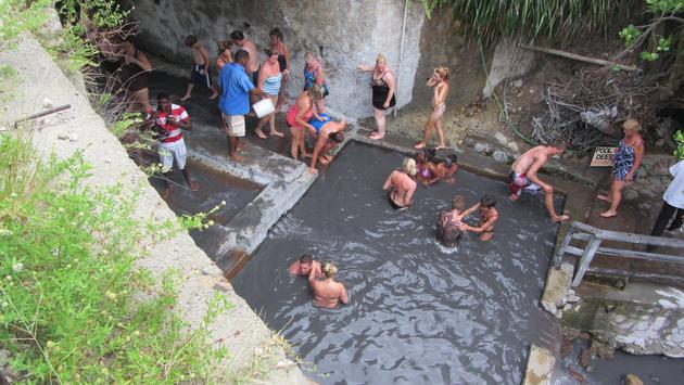 Sulphur baths in Saint Lucia