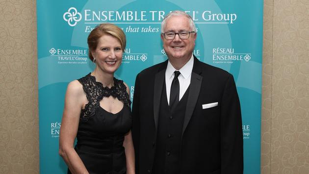 Libbie Rice and Lindsay Pearlman, co-presidents of Ensemble Travel Group, at the group's 2017 Circle of Excellence Black Tie Gala.