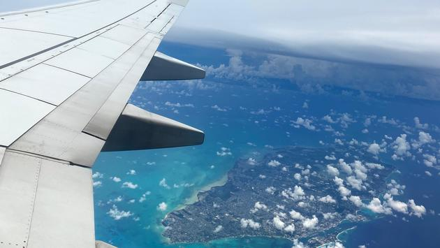 Plane shot of Antigua