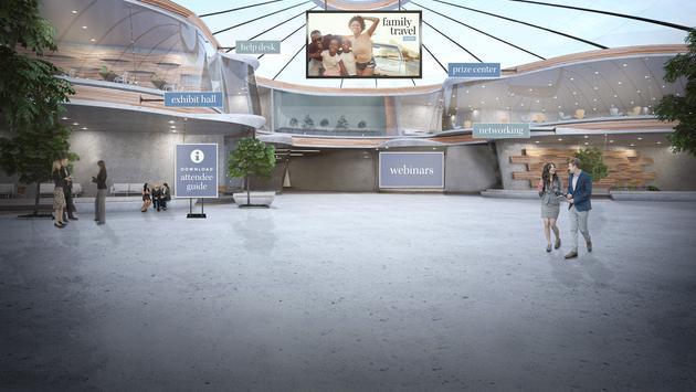 2021 Family Travel Expo lobby