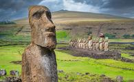 Moai in Easter Island, Chile