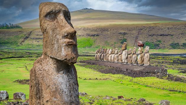 Moai in Easter Island, Chile
