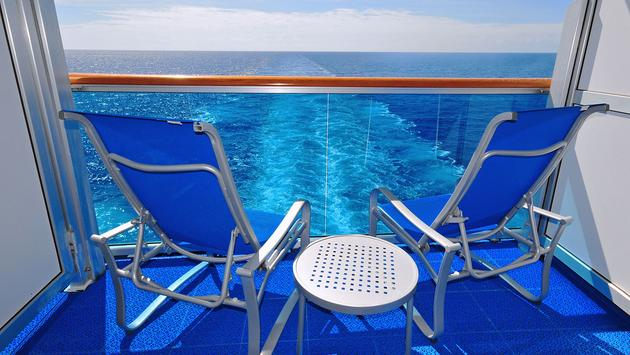 Two Empty Chairs on a Cruise Ship Balcony