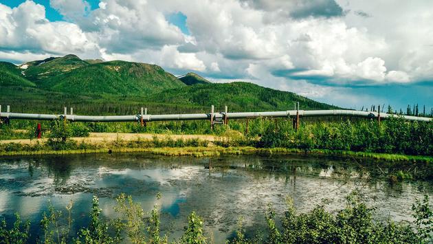 The famous Trans Alaska Pipeline
