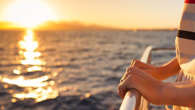 Sunset on cruise