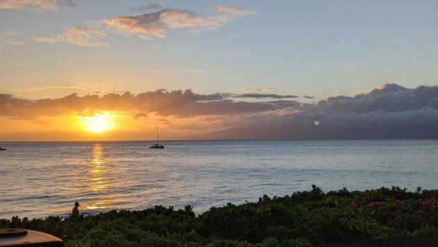 Sunset view in Maui, Hawaii
