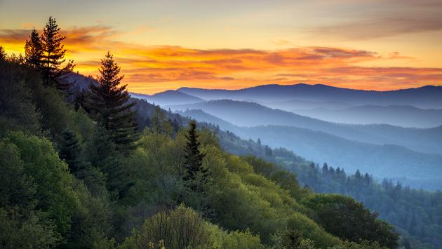 Great Smoky Mountains National Park Scenic Sunrise