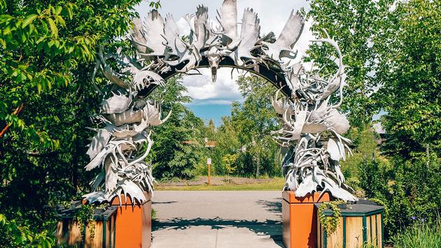Fairbanks antler arch