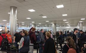 Long security lines at the airport