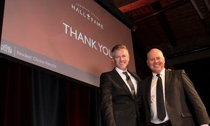 Mark Murphy and John Kirk at the 2018 TravelPulse Canada Readers Choice Awards