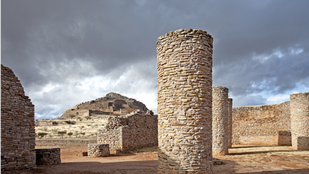 La zona arqueológica de La Quemada, en Zacatecas. (Foto de Turismo Zacatecas)