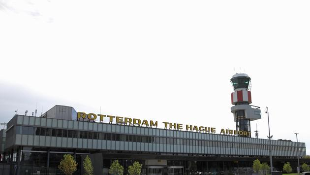 Central hall of the Rotterdam Airport