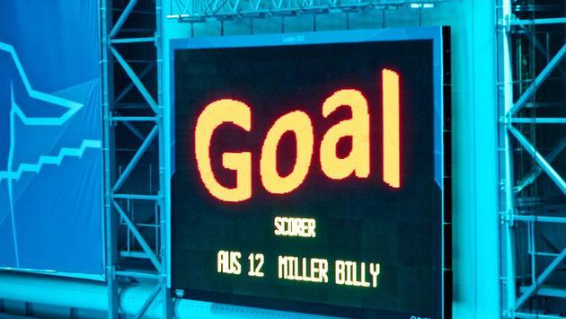 Goal scoreboard screen