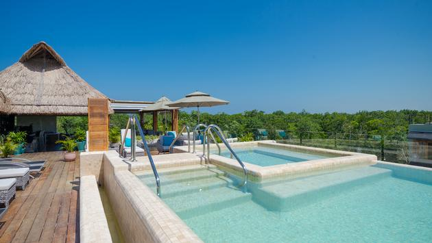 Rooftop pool at Naay Tulum