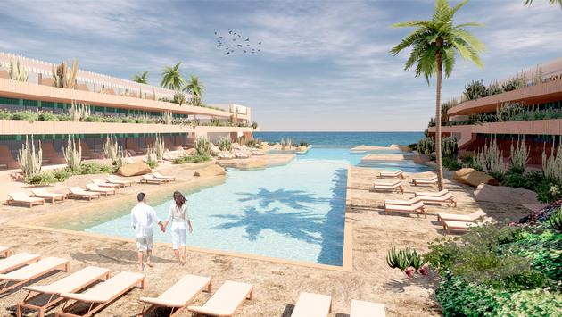Rendering of Secrets Baby Beach Aruba