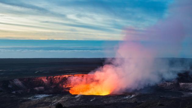 Kilauea Crater, Hawaii Volcanoes National Park.