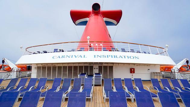 Carnival Cruise Line's signature funnel aboard Carnival Inspiration