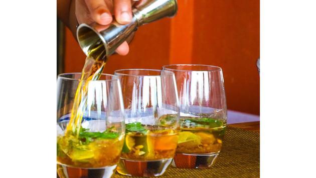 Rum drinks in Barbados