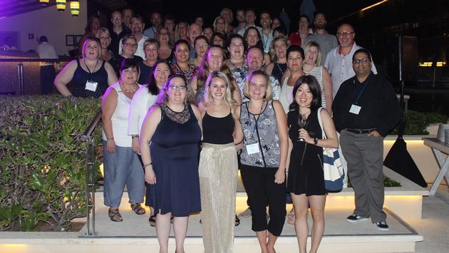 The WestJet Travel Agent Advisory Board in Cancun.