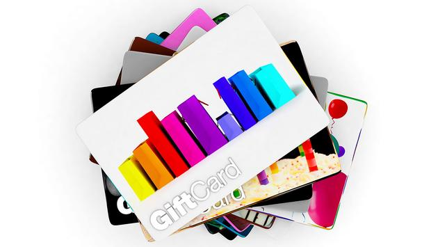 Stack of gift card designs for all people, white background (Photo via joingate / iStock / Getty Images Plus)