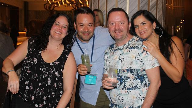 TAAB members Adam Bath, MaryBeth Wood and Neena Kapoor with Matthew Djorsev of WestJet.