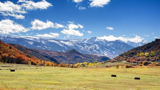 Autumn shot of the Snowmass Ski Area, Colorado