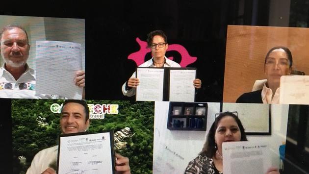 Secretarios de Turismo de Yucatán, Quintana Roo, Tabasco, Chiapas y Campeche firmaron la Alianza Región Mundo Maya.