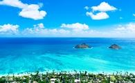 Aerial view of Hawaii