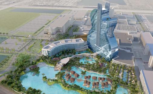 Rendering of the upcoming Guitar Tower at Seminole Hard Rock Hotel & Casino in Hollywood, Florida