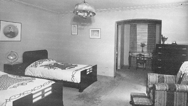 Une chambre au tout premier hôtel Hilton, le Hilton Dallas, en 1925