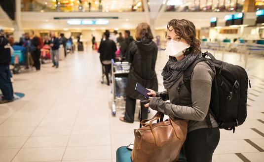 COVID-era airport queues.