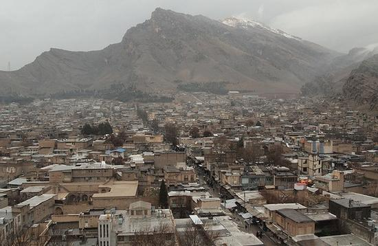 The city of Kermanshah in Kermanshah province in Iran. The province is one of the hardest hit areas of today