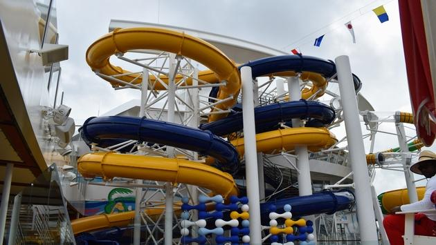 Symphony of the Seas' The Perfect Storm Waterslides