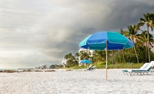 A storm threatens Naples Beach, Florida.