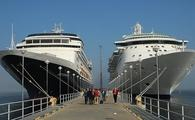 Two cruise ships docked in Estonia