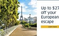 Up to $275 off your European escape